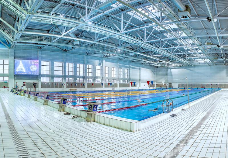 Дворец водных видов спорта, в котором проводится Кубок Полесья. Чаша для плавания.