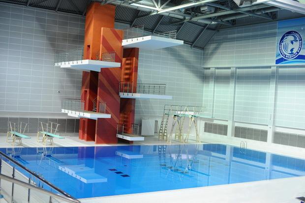 Дворец водных видов спорта, в котором проводится Кубок Полесья. Чаша для прыжков в воду.